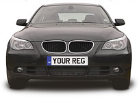BMW with NumberPlate