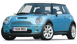 Mini with Number Plate